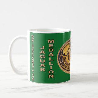 MAYAN JAGUAR MEDALLION-DARK GREEN MAYAN GOLD COAST COFFEE MUG