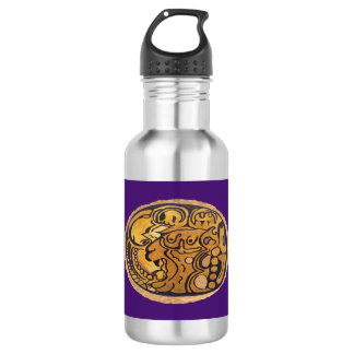 MAYAN JAGUAR MEDALLION-PURPLE- MAYAN GOLD COAST
