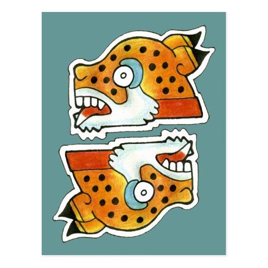 Mayan Jaguar Symbol Postcard