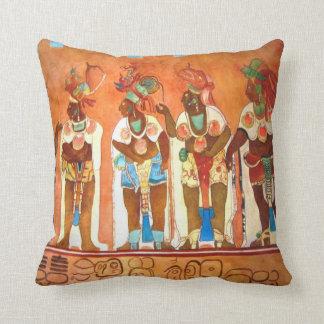 Mayan Men Throw Pillow