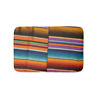 Mayan Mexican Colorful Blankets Bath Mat
