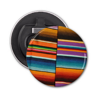 Mayan Mexican Colorful Blankets Bottle Opener