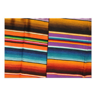 Mayan Mexican Colorful Blankets Photo Print