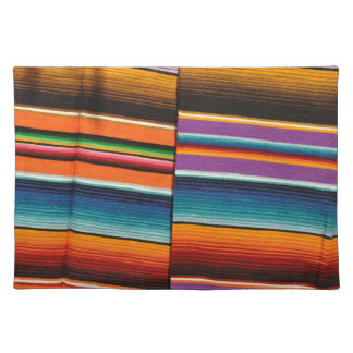 Mayan Mexican Colorful Blankets Placemat