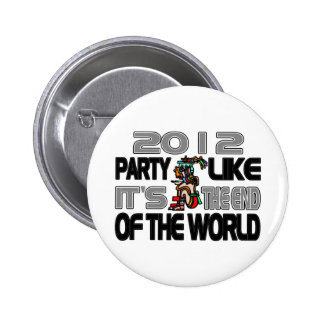 Mayan New Years 2012 2 Inch Round Button