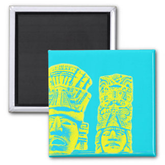 mayan print fridge magnet