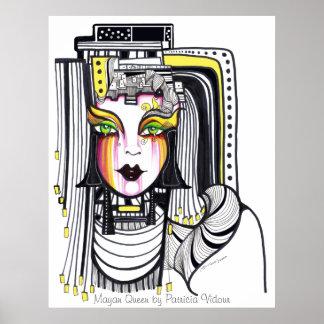 Mayan Queen Poster