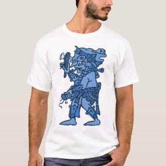 Mayan Rain God Blue T-Shirt
