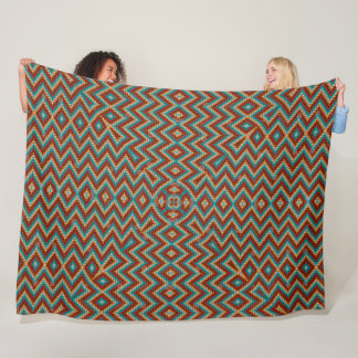 Mayan Rainbow Dragon Satin Mandala Quilt Fleece Blanket