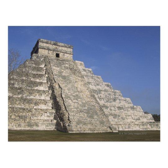 Mayan ruins at Chichen Itza, Kukulcans Pyramid Postcard
