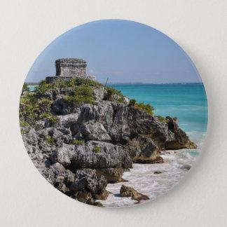 Mayan Ruins in Tulum Mexico 4 Inch Round Button