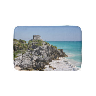 Mayan Ruins in Tulum Mexico Bath Mat