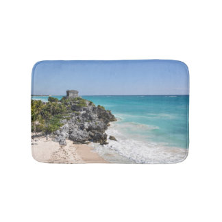 Mayan Ruins in Tulum Mexico Bathroom Mat
