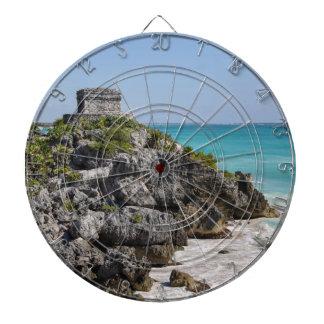 Mayan Ruins in Tulum Mexico Dartboard