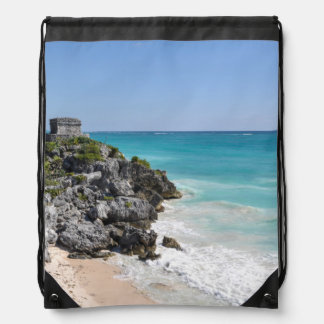 Mayan Ruins in Tulum Mexico Drawstring Bag