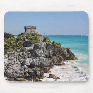 Mayan Ruins in Tulum Mexico Mouse Pad