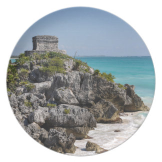 Mayan Ruins in Tulum Mexico Party Plate