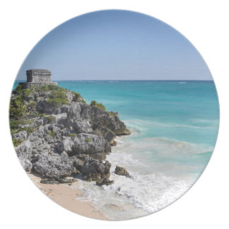 Mayan Ruins in Tulum Mexico Plates