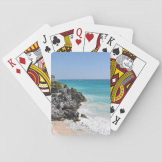 Mayan Ruins in Tulum Mexico Playing Cards
