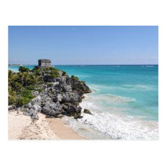 Mayan Ruins in Tulum Mexico Postcard