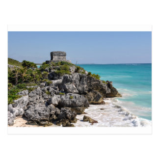 Mayan Ruins in Tulum Mexico Postcard