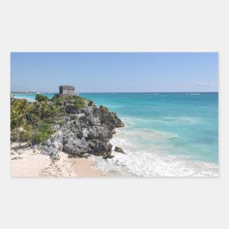 Mayan Ruins in Tulum Mexico Sticker