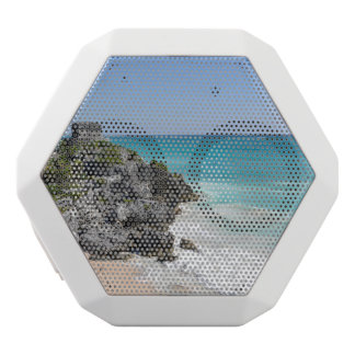 Mayan Ruins in Tulum Mexico White Bluetooth Speaker