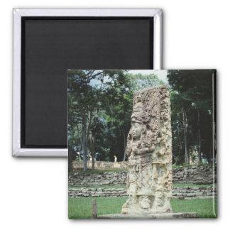Mayan Ruins Photo Designed Square Color Magnet
