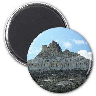 Mayan Ruins - xunantunich belize 2 Inch Round Magnet