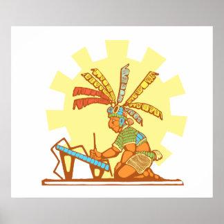 Mayan Scribe #2 Poster