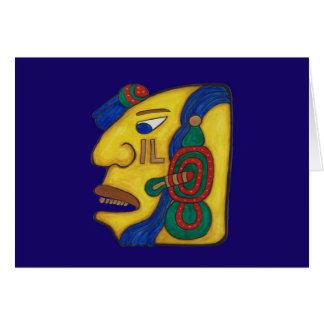 MAYAN SPIRIT HUN- BLUE BACKGROUND CARD