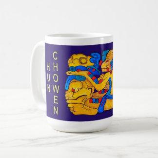 MAYAN SPIRIT HUN CHOWEN- BLUE- CANCUN COFFEE MUG