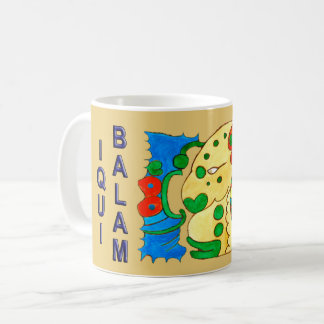 MAYAN SPIRIT IQUI BALAM- GOLD- MAYAN RIVIERA COFFEE MUG