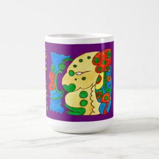 MAYAN SPIRIT IQUI BALAM- PURPLE- MAYAN RIVERA COFFEE MUG
