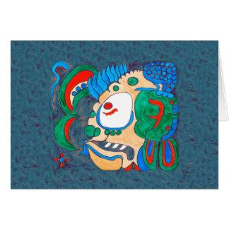 MAYAN SPIRIT KAI YUM- GREEN BACKGROUND CARD