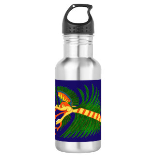 MAYAN SPIRIT KUKULCAN- BLUE BACKGROUND- CANCUN 532 ML WATER BOTTLE
