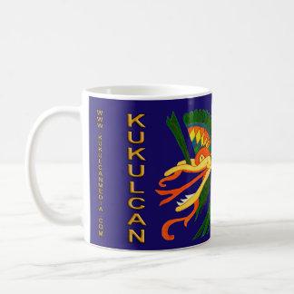 MAYAN SPIRIT KUKULCAN- MIDNIGHT BLUE- CANCUN COFFEE MUG