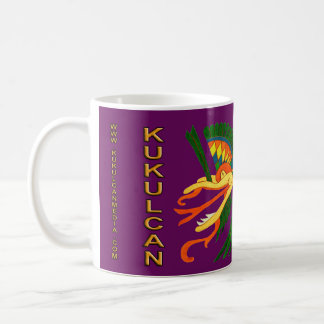 MAYAN SPIRIT KUKULCAN- PURPLE- MAYAN GOLD COAST COFFEE MUG