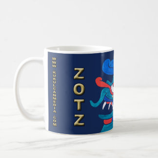 MAYAN SPIRIT ZOTZ, MIDNIGHT BLUE, CANCUN MEXICO COFFEE MUG