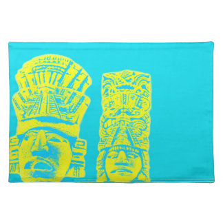 mayan statue print placemat