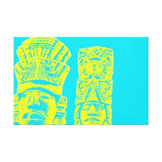 mayan statues canvas print