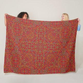 Mayan Sun God Mandala Fleece Blanket