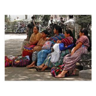 Mayan Vendors Postcard