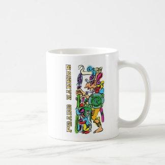Mayan Warrior hieroglyph watercolor. Coffee Mug