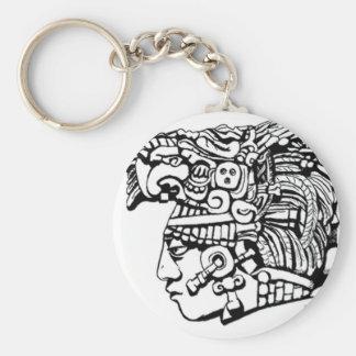 Mayan Warrior Keychain