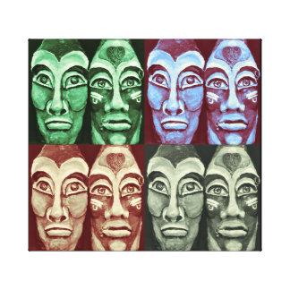 Mayan warriors - surrealism design canvas print