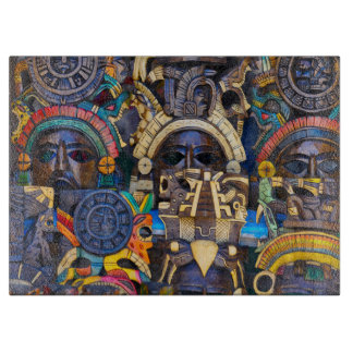 Mayan Wooden Masks for Sale Cutting Board