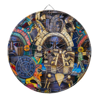 Mayan Wooden Masks for Sale Dartboard