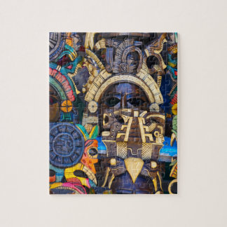 Mayan Wooden Masks for Sale Jigsaw Puzzle