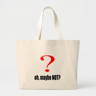 maybe suggestion afraid possibility black note mar large tote bag